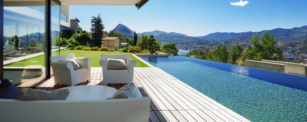 Foto Haus mit Pool Immobilie Bewertung