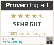 Proven Expert Bewertungssiegel