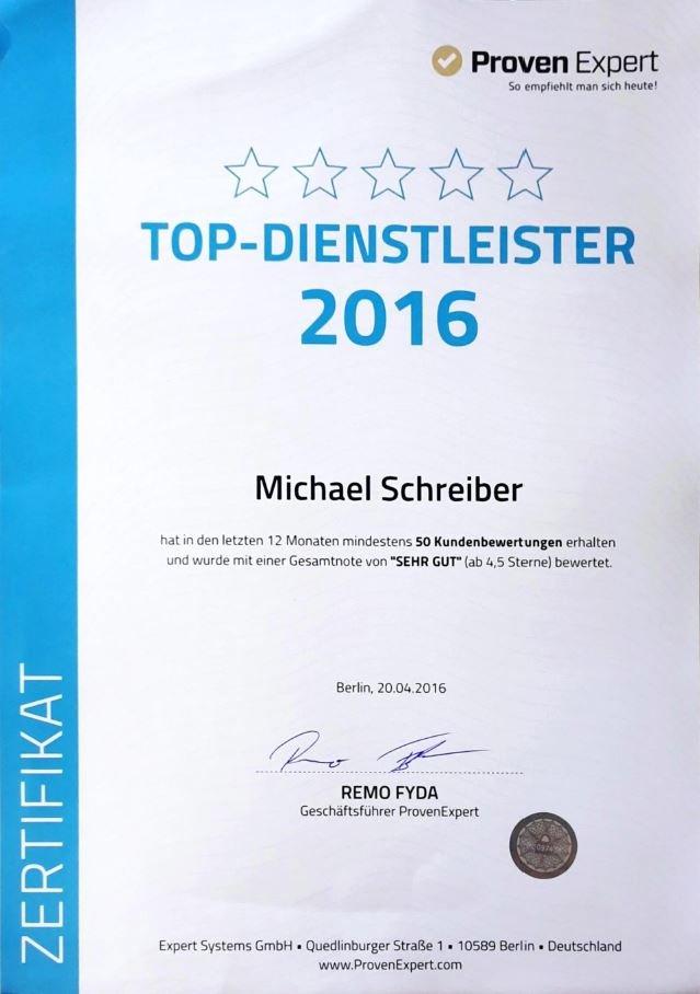 Bewertungen Referenzen 2016 unabhängiger Versicherungsmakler in Freiburg bestens bewertet