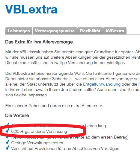 Altersvorsorge für Ärzte VBL Extra