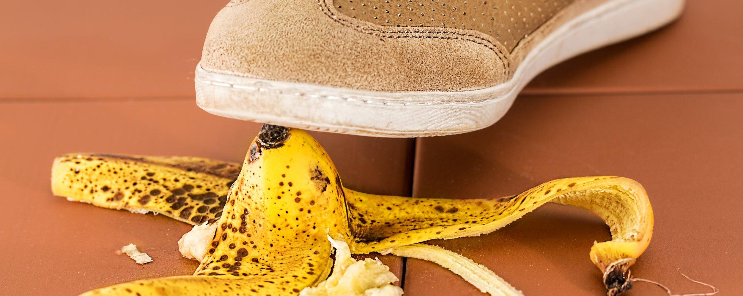 Unfall mit Bananenschale